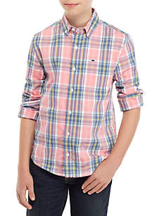 Crown & Ivy™ Boys 8-20 Long Sleeve Easy Care Shirt