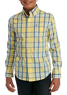 Crown & Ivy™ Boys 8-20 Long Sleeve Easy Care Shirt