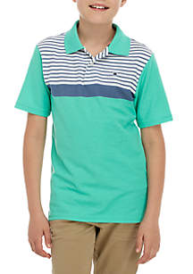Crown & Ivy™ Boys 8-20 Short Sleeve Feeder Stripe Polo Shirt