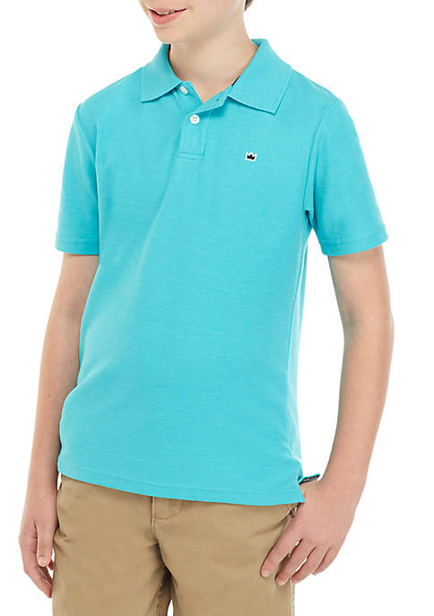 Boys 8-20 Solid Polo