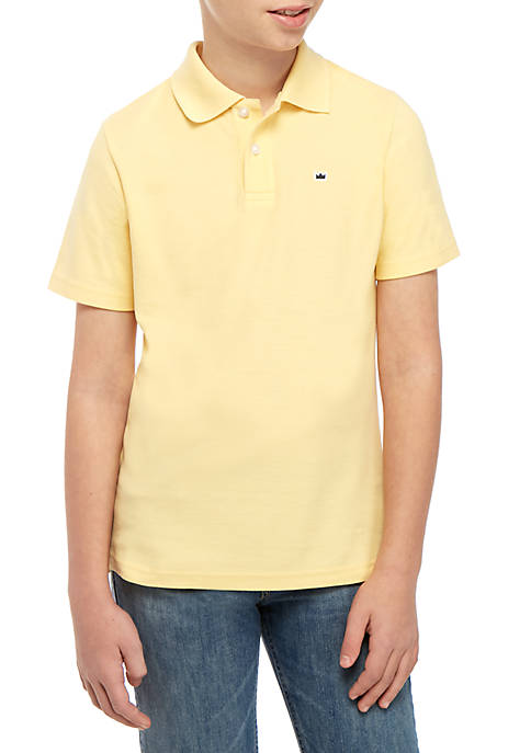5e80a58e4 Crown   Ivy™ Boys 8-20 Solid Polo