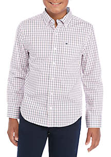Crown & Ivy™ Boys 8-20 Long Sleeve Easy Care Woven Shirt