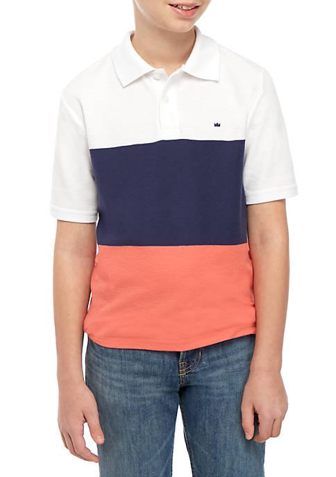 Boys 8-20 Short Sleeve Colorblock Polo