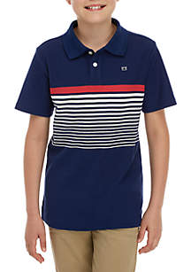 Crown & Ivy™ Boys 8-20 Short Sleeve Placed Polo Shirt