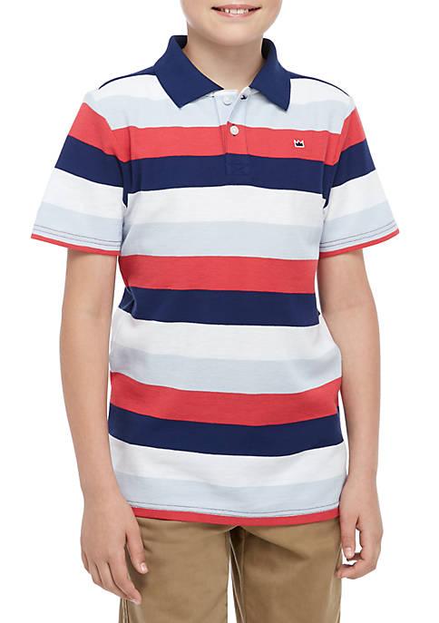 Boys 8-20 Short Sleeve Stripe Polo Shirt
