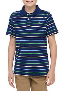 Crown & Ivy™ Boys 8-20 Short Sleeve Stripe Polo Shirt