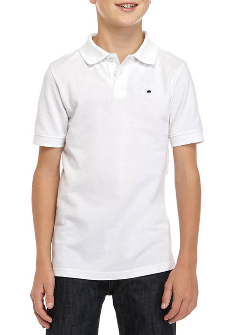Crown & Ivy™ Boys 8-20 Short Sleeve Pique