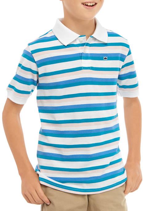 Crown & Ivy™ Boys 8-20 Short Sleeve Stripe