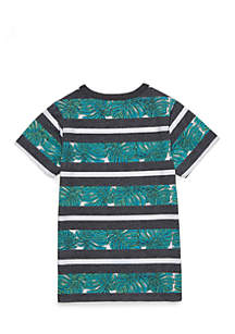 Boys 4-10 Set-On Collar Short Sleeve Tee