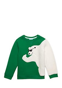 Boys 4-10 Polar Bear Crew Neck Top