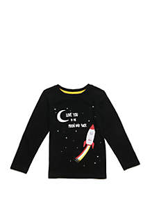 Lightning Bug Boys 4-8 Long Sleeve Crew Neck Tee