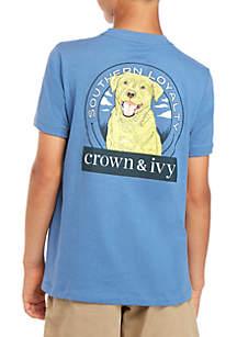 Crown & Ivy™ Boys 8-20 Feliz Dog Tee