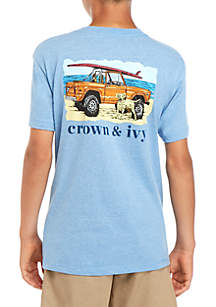 Crown & Ivy™ Boys 8-20 Apollo Surf Truck Tee
