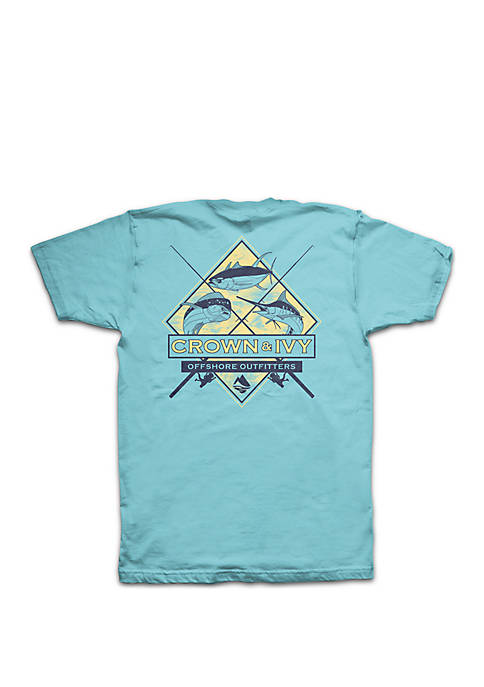 Crown & Ivy™ Boys 8-20 Surf Trifish Tee