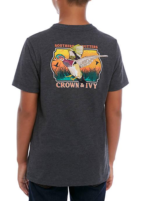 Crown & Ivy™ Boys 8-20 Arbor Duck T-Shirt