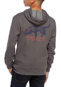 Ocean & Coast® Boys 8-20 Cotton Fleece Graphic Hoodie