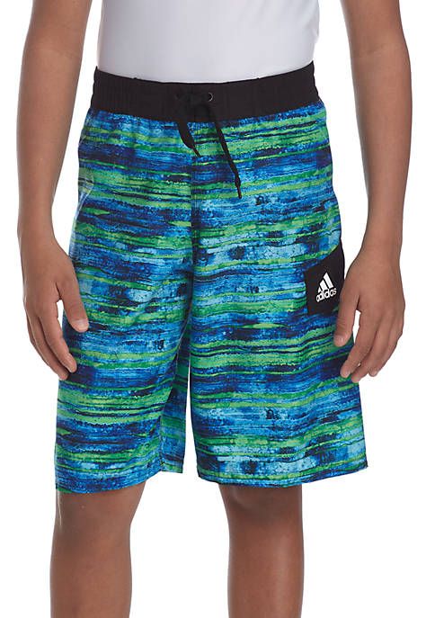adidas Water Stripe Swim Trunks Boys 8-20
