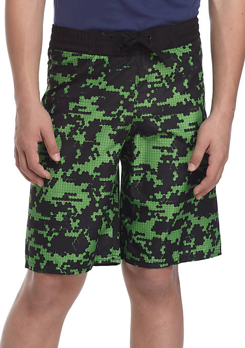 adidas Camo Grid Swim Trunks Boys 8-20