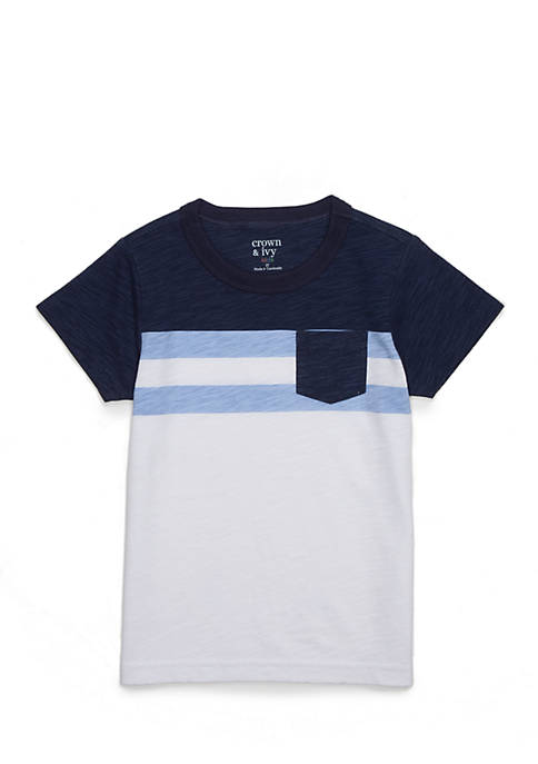 Crown & Ivy™ Boys 4-8 Striped Pocket Tee