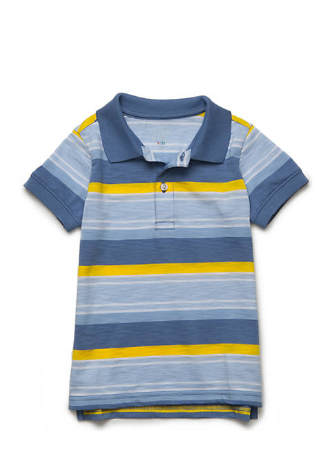 Crown & Ivy™ Boys 4-8 Stripe Polo