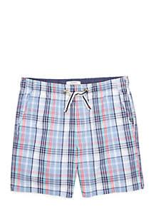 Boys 4-8 Plaid Shorts