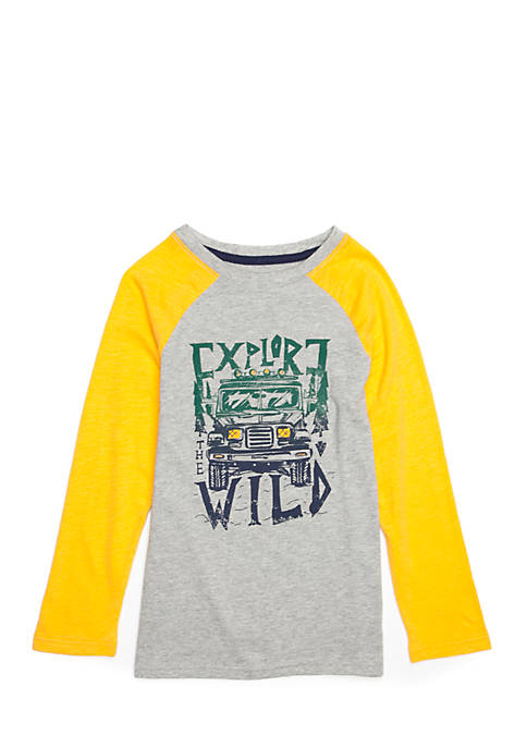 Lightning Bug Boys 4-10 Long Sleeve Raglan Tee