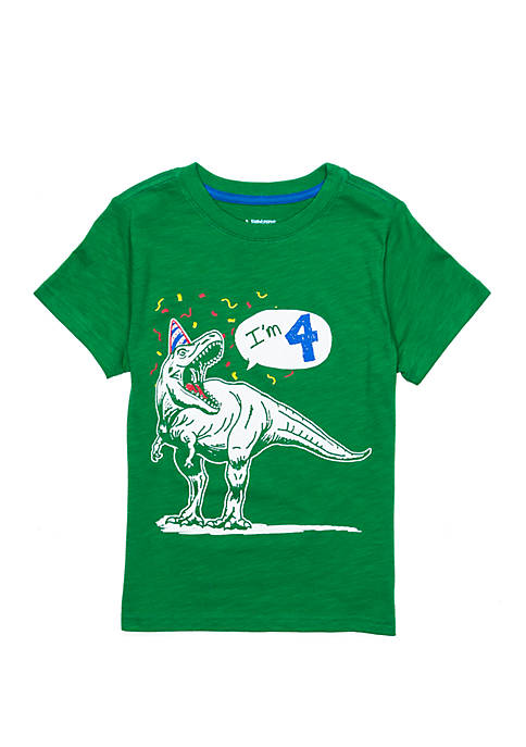 Boys 4-8 Short Sleeve Graphic Birthday Tee