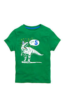 Boys 4-10 Short Sleeve Graphic Birthday Tee