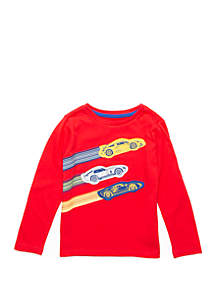Lightning Bug Boys 4-7 Long Sleeve Crew Neck T Shirt