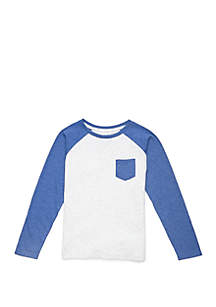 Lightning Bug Boys 4-8 Long Raglan Sleeve Pocket T Shirt