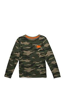 Lightning Bug Boys 4-7 Long Sleeve Crew Neck T Shirt