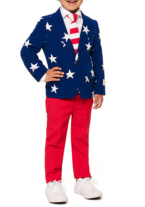 OppoSuits Boys 2-8 Stars and Stripes Suit