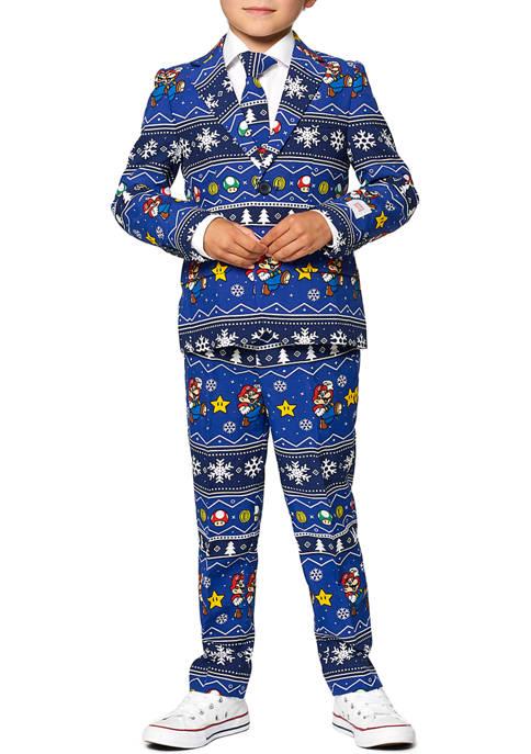 OppoSuits Boys 2-8 Merry Mario Christmas Suit