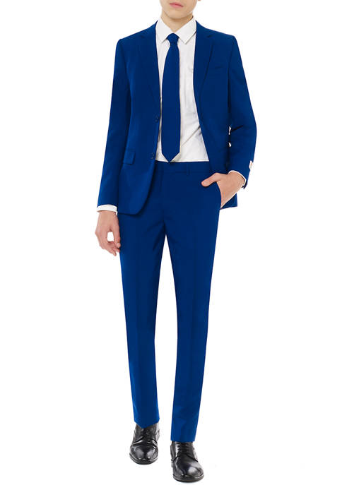 Boys 8-20 Navy Royale Solid Color Suit
