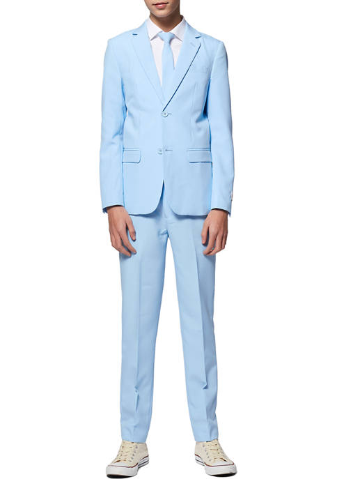 OppoSuits Boys 8-20 Cool Blue Solid Color Suit