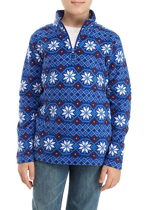 Crown & Ivy™ Printed Polar Quarter Zip Fleece
