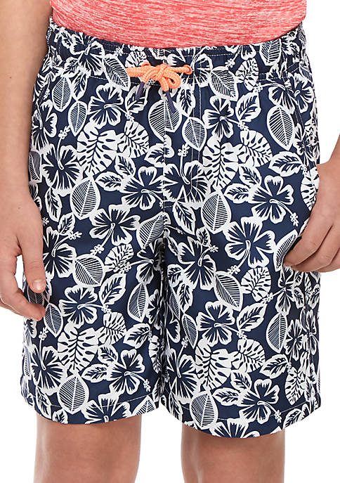 Crown & Ivy™ Boys 8-20 Printed Swim Shorts