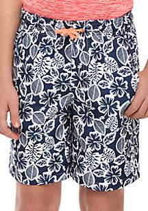 Crown & Ivy™ Boys 8-20 Printed Swim Shorts