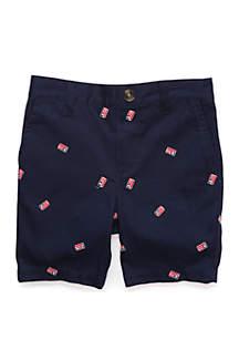 Lightning Bug Boys 4-7 Flat Front Shorts