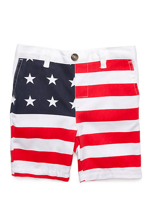 Boys 4-7 Flat Front Shorts