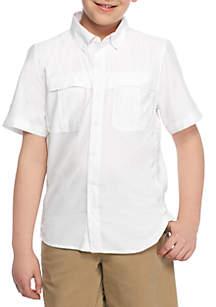 Boys 8-20 Short Sleeve Fishing Shirt