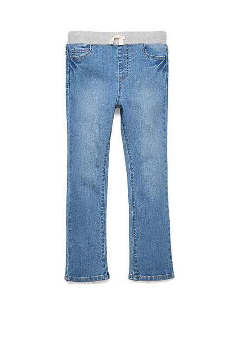 Lightning Bug Boys 4-8 Denim Pants with Knit