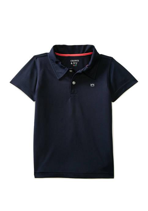 Crown & Ivy™ Boys 4-7 Short Sleeve Piqué