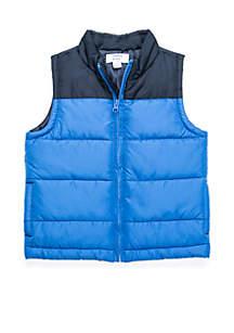 Boys 4-8 Colorblock Puffer Vest