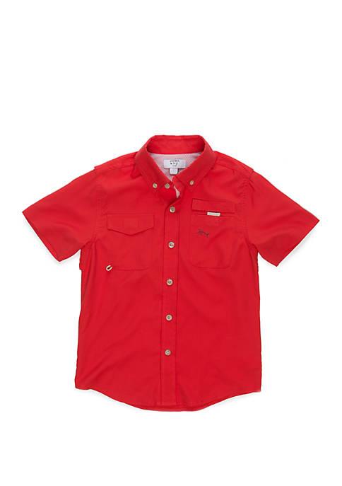 Boys 4-8 Short Sleeve Fishing Shirt