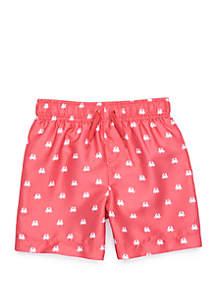 Crown & Ivy™ Boys 4-7 Swim Trunks