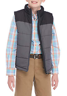 Crown & Ivy™ Boys 8-20 Colorblock Puffer Vest