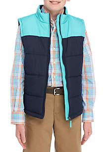 Boys 8-20 Colorblock Puffer Vest
