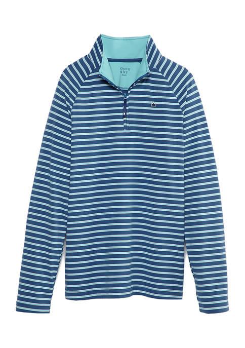 Boys 8-20 Quarter Zip Long Sleeve Shirt