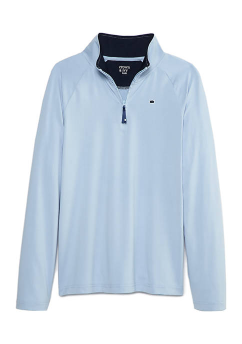 Boys 8-20 Quarter Zip Long Sleeve Shirt